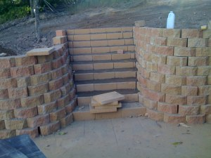 Link block retaining wall by Lifestyle Landscaping Bundaberg