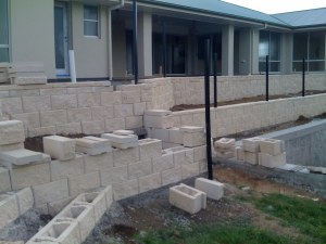 GB masonry Link block terrace wall