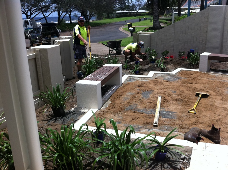 seaside courtyard-Bundaberg Landscaping 1