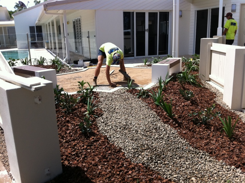 seaside courtyard-Bundaberg Landscaping 3