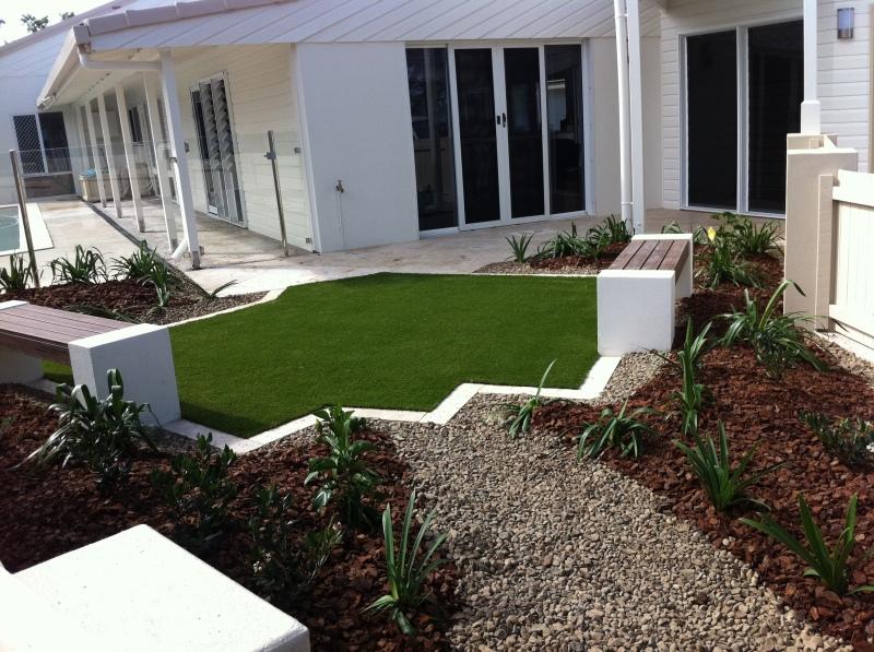 seaside courtyard-Bundaberg Landscaping 4