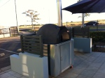 woodfire pizza oven on display at Lifestyle Solutions Centre Bundaberg